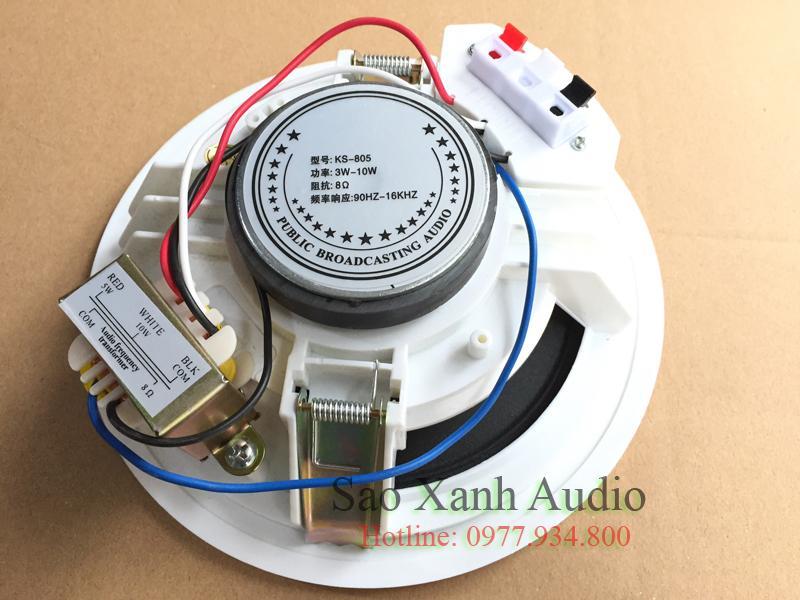 Loa âm trần APU KS805 thiết kế củ nam châm to tiếng bass rõ