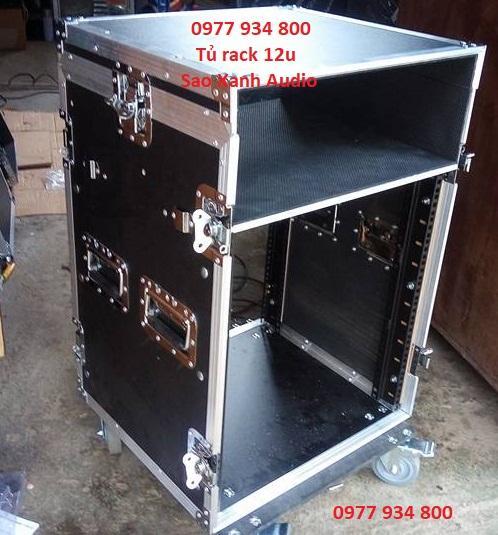tủ gỗ 12u đựng âm thanh
