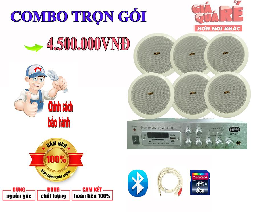 Combo 6 Loa Âm Trần + 1 Amply 60W giá 4.500.000VNĐ