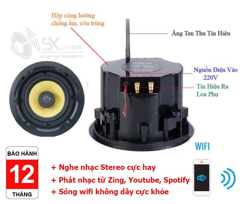 Bộ loa âm trần wifi nghe nhạc đa vùng cực hay, giá tốt nhất