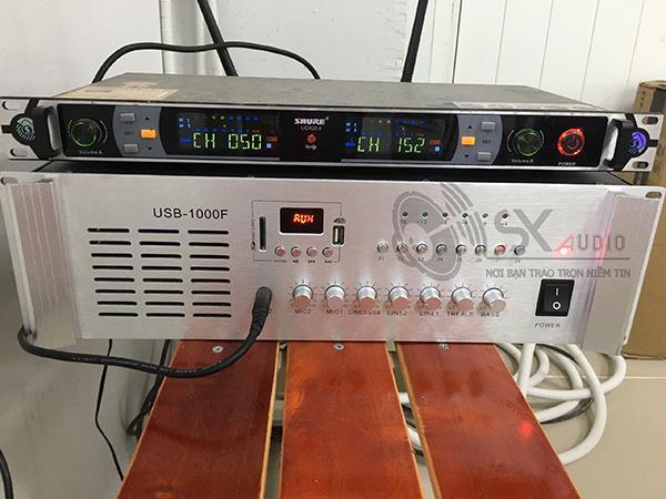 Hình ảnh thực tế của mẫu Amply APU 1000W khách hàng tham khảo