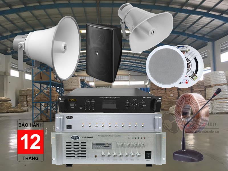 giải pháp âm thanh cho xưởng sản xuất linh kiện điện tử tối ưu