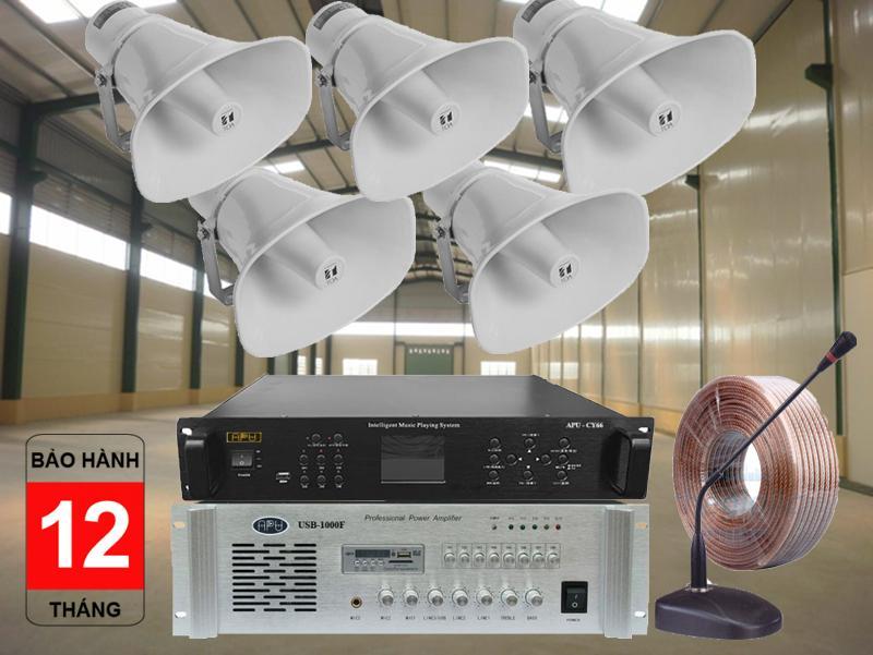 Hệ thống loa dùng cho xưởng may độ phủ âm rộng, chuyên nghiệp